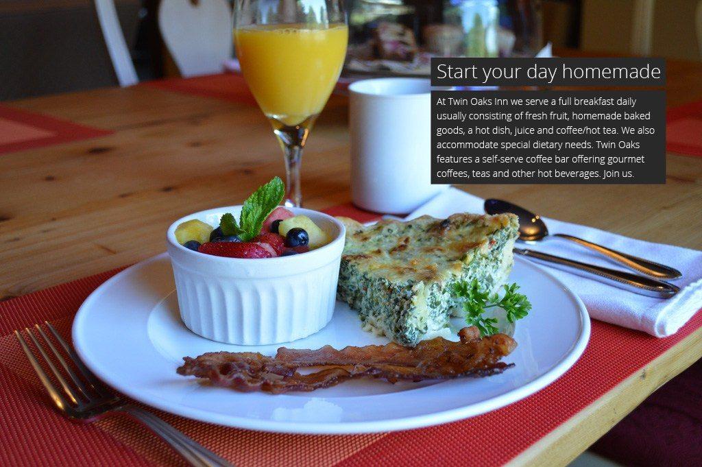 Breakfast at Twin Oaks Inn