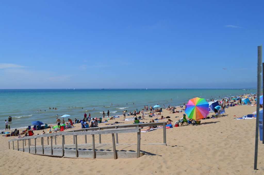 Oval Beach on the Lake Michigan shore is rated one of the top beaches in the country!