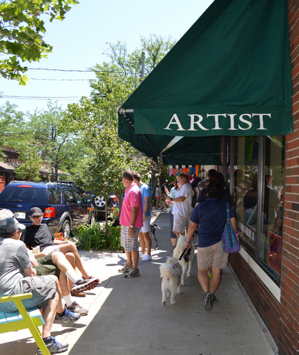 "Many Art Galleries have located in Saugutuck, making the area Michgan's ""Art Coast"""
