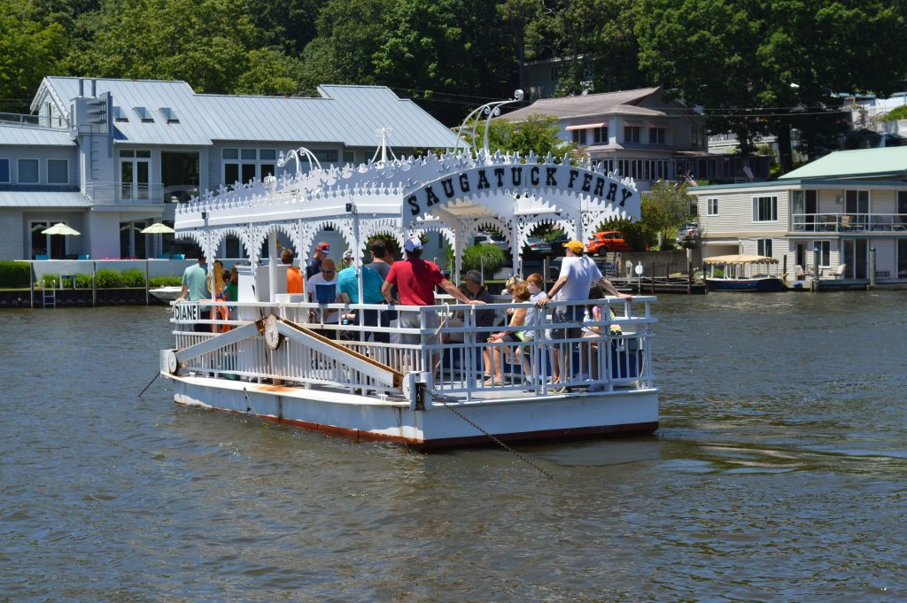 The Saugatuck Cable Ferry is one of the few in existence.. Make sure you see it!