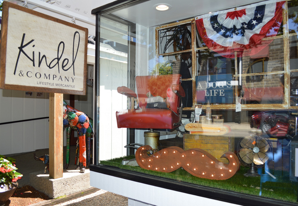The exterior of Kindel & Company, a shop in downtown Saugatuck