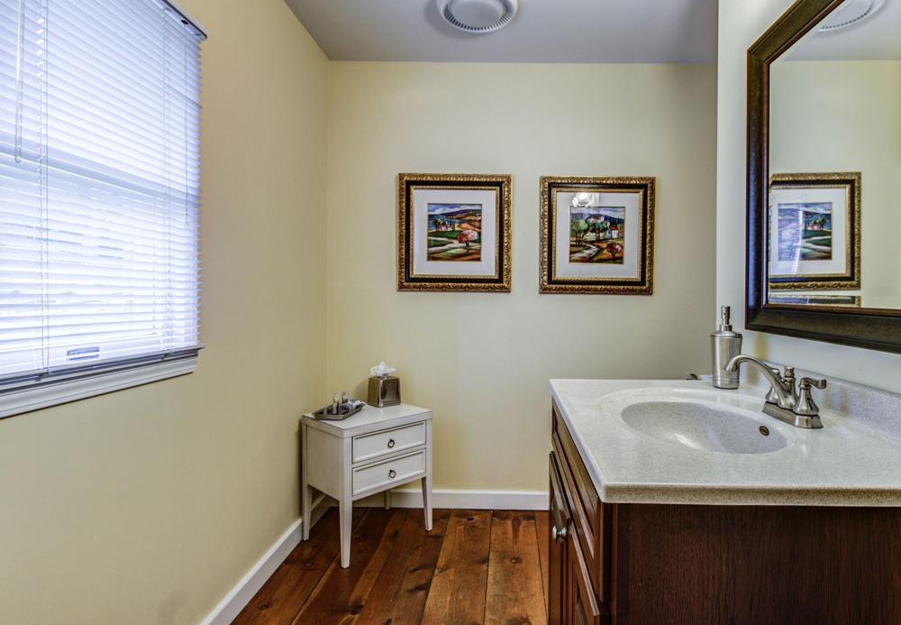 Bathroom vanity in Greenbrier Room bath